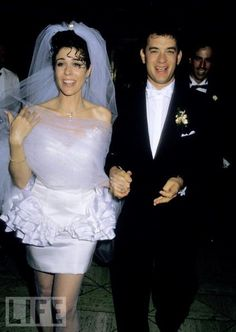 Tom Hanks and Rita Wilson's wedding. [Wish I knew what she was thinking with that outfit...] www.AmosEvents.com