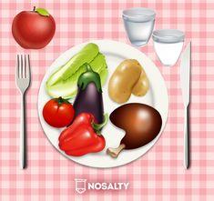 Így porciózd az ételt, ha fogyni szeretnél! | Nosalty Plastic Cutting Board, Vegetables, Kitchen, Food, Cooking, Kitchens, Essen, Vegetable Recipes, Meals