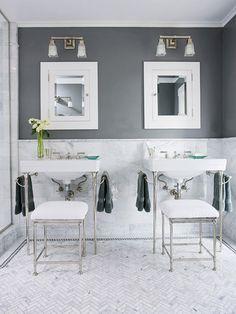 gray marble bathroom - Google Search