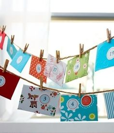 Envelope Advent Calendar. Simple. Cute. And great way to decorate with twine and envelopes.
