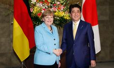 Tokyo speech by German leader comes amid speculation that Japanese PM may water down previous expressions of remorse