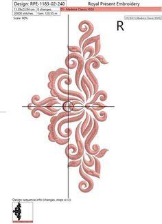 Machine de broderie Design décoratif élégant Decor II 3 | Etsy Bead Embroidery Patterns, Gold Embroidery, Hand Embroidery Designs, Stencil Designs, Paint Designs, Bed Cover Design, Outdoor Metal Wall Art, Celtic Art, Rangoli Designs
