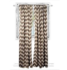 Chevron  Block Printed with Natural Dye Window Curtain by Ichcha, $45.00