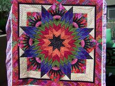 Summer Solstice ~ Quiltworx.com, made by Certified Shop, Quilters Market and Instructor, Kay Crandall, quilted by Sculptured Threads Quilting
