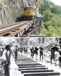 The Burma Railway, also known as the Death Railway, is a 415 kilometer (258 mile) railway between Bangkok, Thailand and Rangoon, Burma. More than 90,000 workers and 16,000 Allied prisoners of war died during the construction of this railway, a horrific episode that forms the backdrop for David Lean's The Bridge on the River Kwai.