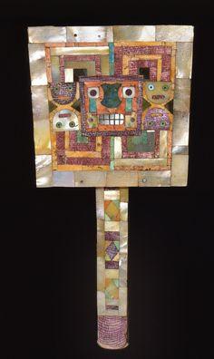 Wari Culture, Mosaic Mirror 650-1000 CE - Shell, pyrite, turquoise / Dumbarton Oaks Museum