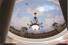 Painted Sky in a Domed Ceiling