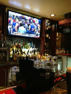 """Drafts Sports Bar and Grill in Park City, UT: Wall-to-wall TV's including 80"""" TV's, gourmet burgers and pizza, and over 50 beers available. Find more places to watch the World Cup in the USA: http://pin.it/AeGWA1a"""