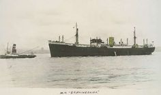 SS Stirlingshire  On the 2nd December 1940 when on route from TOWNSVILLE and BERMUDA for LIVERPOOL in Convoy HX-90 and carrying a cargo of 3,270 tons of sugar, 1,900 tons of refrigerated goods, 460 tons general cargo she was torpedoed by German submarine U-94 and sunk about 280 miles west by north of Bloody Foreland. The master, 72 crew members and one gunner were picked up by the British merchant Empire Puma from the same convoy and landed at Liverpool. Crew of 33 all saved.