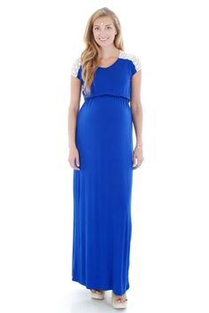 8dd67655d Juliet Maxi Maternity Dress (Sapphire)