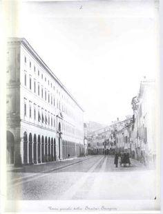 Veduta generale della strada Saragozza, autore anonimo, 1870-1873 circa  http://www.comune.bologna.it/quartieresaragozza/servizi/152:12734/12735/