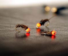 Nymphs for grayling fishing.