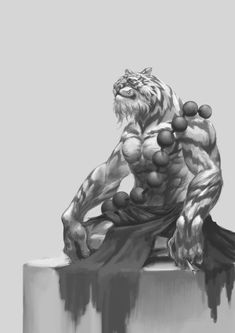 ArtStation - 2017 Concept Sketch #5 _ Tiger monk, Wonhong Kim