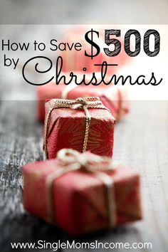 Christmas will be here before you know it! Follow these tips to effortlessly save $500 before Christmas rolls around.