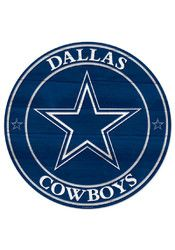 Dallas Cowboys 19.7 Round Wood Sign