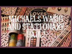 HUGE Michaels Haul! Washi & Glamour Collection! | GimmeMyStickers