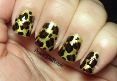 Cheetah Print with black and gold