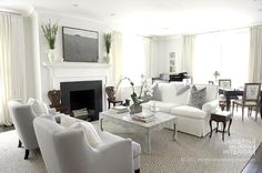 Christina Murphy interior designer - lovely soft neutrals, grey comfy chairs, simple aesthetic, chic and relaxing at the same time.
