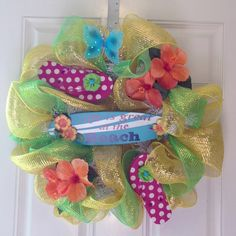My flip flop wreath