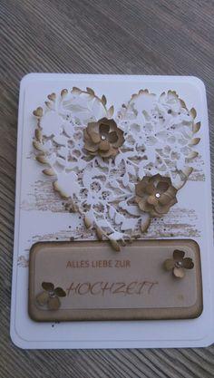 Hochzeitskarten - Karte, Hochzeit, Geburtstag, Einladung, Danke, Neu - ein Designerstück von Mein-Kreativpoint bei DaWanda