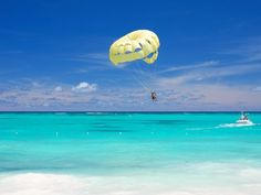 Parasailing in Nassau - while this isn't me, I did parasail there and it was one of the most exhilarating adventures I've had.