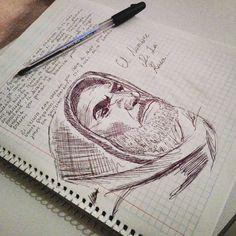 """illustration of my school work....  Ilustración de mi tarea del colegio....  """"El nombre de la Rosa""""  #sketch #drawing #pencil #mexicanguy #movie #elnombredelarosa #hi #ilustration #practice #homework #school #progress #sketchbook #draw #fanart #arte"""