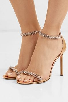 Find and compare Shilo 100 crystal-embellished metallic leather sandals across the world's largest fashion stores! Leather Sandals, Shoes Sandals, Dress Shoes, Famous Brand Shoes, Gucci, Fab Shoes, Shiny Shoes, Evening Shoes, Fashion Shoes