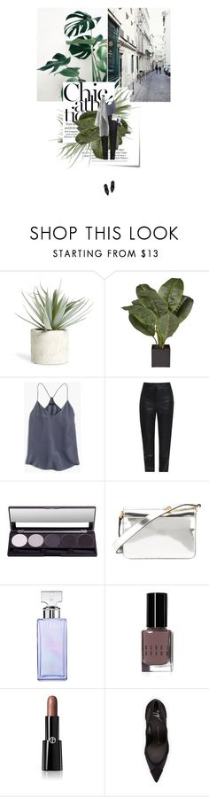 """""""Leather pants"""" by mateajosipovic ❤ liked on Polyvore featuring Post-It, Edition, Allstate Floral, J.Crew, Charlie May, Marni, Calvin Klein, Bobbi Brown Cosmetics, Giorgio Armani and Giuseppe Zanotti"""