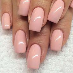 Soft pink nails More – The Best Nail Designs – Nail Polish Colors & Trends Gorgeous Nails, Love Nails, Fun Nails, Pretty Nails, Square Acrylic Nails, Square Nails, Best Nail Art Designs, Acrylic Nail Designs, Soft Pink Nails