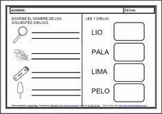 MATERIALES - Fichas de lectoescritura - L.    Fichas para el aprendizaje de la lectoescritura en letra mayúscula.    http://arasaac.org/materiales.php?id_material=983