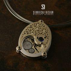 SEN ZEGARMISTRZA VI- wisiorek z ażurowym wzorem  Biżuteria Wisiory stobieckidesign