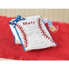 Baseball Burp Cloth