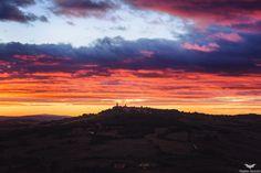 Fiery Sunset In Toscana