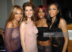 Destiny's Child and Celine Dion during 44th GRAMMY Awards - Sony Music Entertainment After-Party at Morton's Restaurant in Beverly Hills, California, United States.