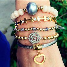Set By Vila Veloni Gold And Silver Romantic Bracelets
