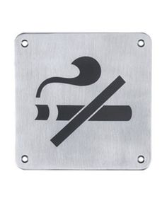 """Low cognitive effect- This sign is clear as it is definitely an image of a cigarette with a slash through it, meaning """"no smoking."""""""