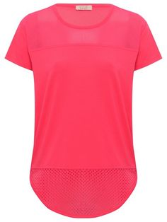 M&Co. Kylie Mesh panel neon pink top