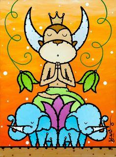 Zen Monkey Art Print by Ed King Pop Art | Society6