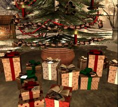 Not One But Four Christmas Trees With Free Gifts, Everything is, everything and anything you can imagine, Second Life Gifts Freebies...
