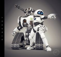 Wall-E and EVE re-imagined