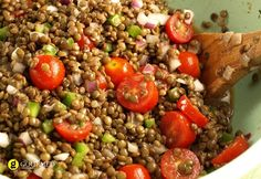 Cooking Hack: When making a meal with ground beef, replace some of the beef with lentils.Substitute up to half the amount of beef with cooked lentils. You've save a little money and consume less fat and calories. Salad Bar, Soup And Salad, Lentil Salad Recipes, Depression Era Recipes, Clean Eating, Healthy Eating, Healthy Food, Cooking Recipes, Healthy Recipes