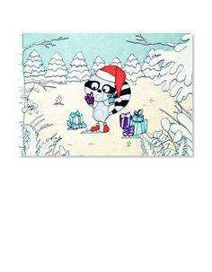 Carte de #Noël pour enfants par Les Petits Pois sont Bleus.