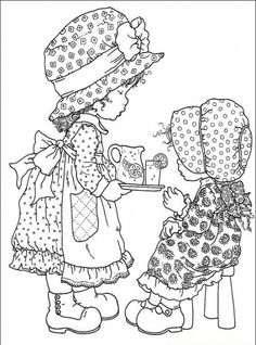coloring pages holly hobbie - Google Search
