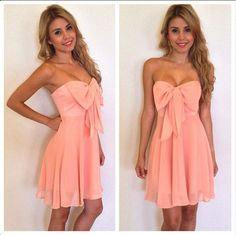 I love that giant bow! I feel like this would make adorable summer formal dress!