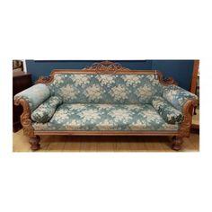 Carved French style blue velvet sofa Blue Velvet Sofa, French Style, Carving, Couch, Stuff To Buy, Furniture, Home Decor, Settee, Sofa