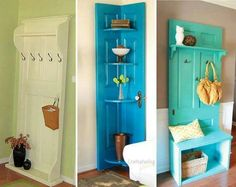 Love this idea!  What a great way to use old doors!