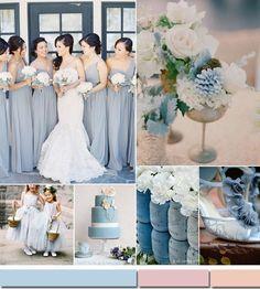 dusty blue spring summer wedding color ideas 2015