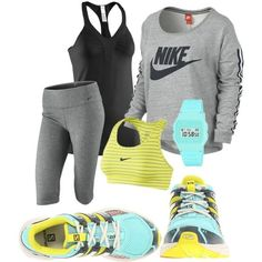 Nike free shoes, nike shoes, nike sneakers, workout attire, workout g Fitness Outfits, Nike Outfits, Moda Outfits, Fitness Fashion, Sport Outfits, Fitness Workouts, Nike Workout Gear, Workout Attire, Workout Wear