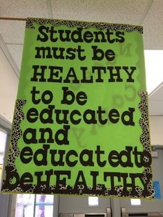 We love this great sign we saw at Popp's Ferry Elementary (Biloxi Public School District)! #brainbreaks #classroom #bulletinboards #Teachers