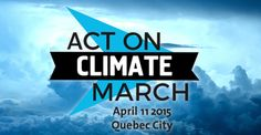 stand up for climate change!!!! on april 11th